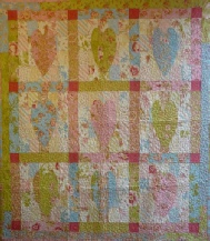 Big Jellyroll Hearts and Stars Quilt