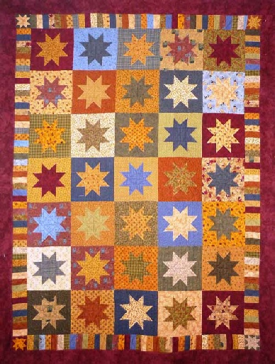 Big Floating Stars Quilt