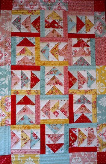 Big Charm Pack Flying Geese Quilt