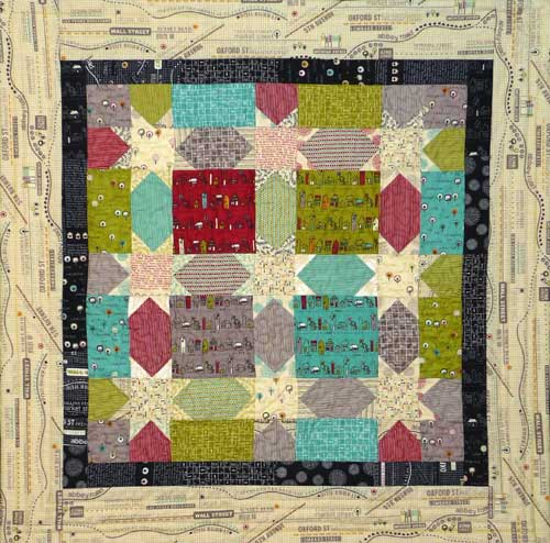 Big Charm Pack Starry Sashing Quilt