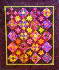 Big Charm Pack or Layercake 9 Patch Floating Stars Quilt