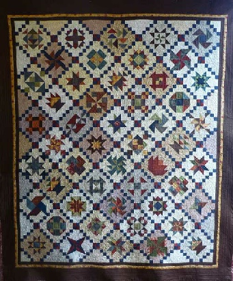 White Cottage Big Civil War Quilt