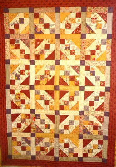 Big Layercake Four Patch Trellis Quilt